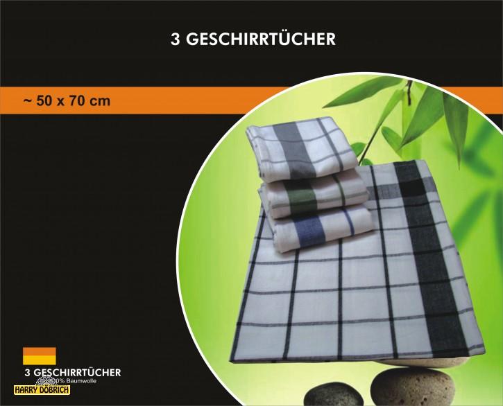 Geschirrtuch  BW 3er 50x70cm Designs sortiert