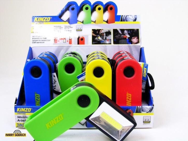 Arbeitslicht COB  magnetisch 4 Farben sortiert