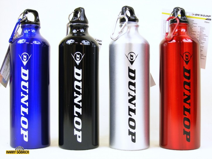 Trinkflasche 750ml Alu Dunlop 4 Farben