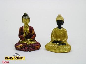 Poly. Buddha sitzend 6cm sortiert