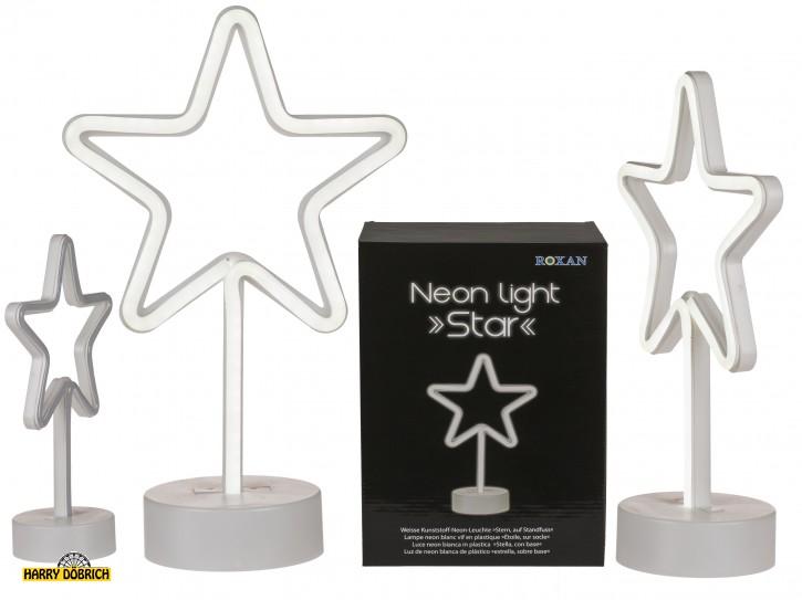 Neonleuchte Stern auf Fuß 30cm