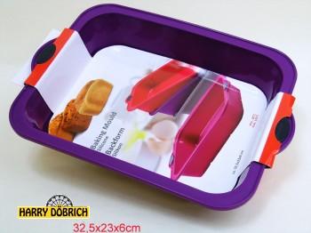 Backform 32x23x6cm Silikon 4 Farben sortiert