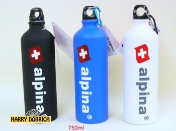 Trinkflasche 750ml Alu Alpina 3 Farben