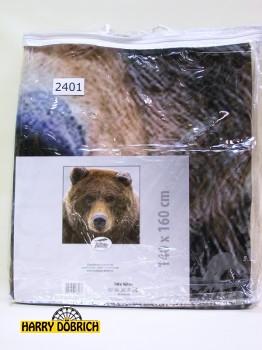 Kuscheldecke Bär 140x160cm