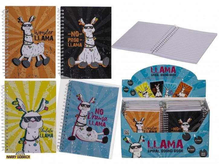Notizbuch Llama A6 80 blatt sortiert