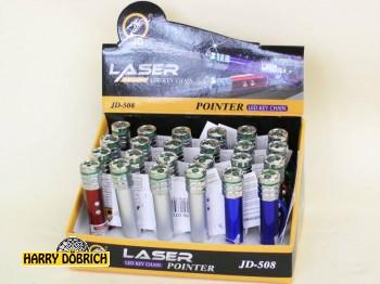 Taschenlampe laser m. Karabiner Farben sortiert