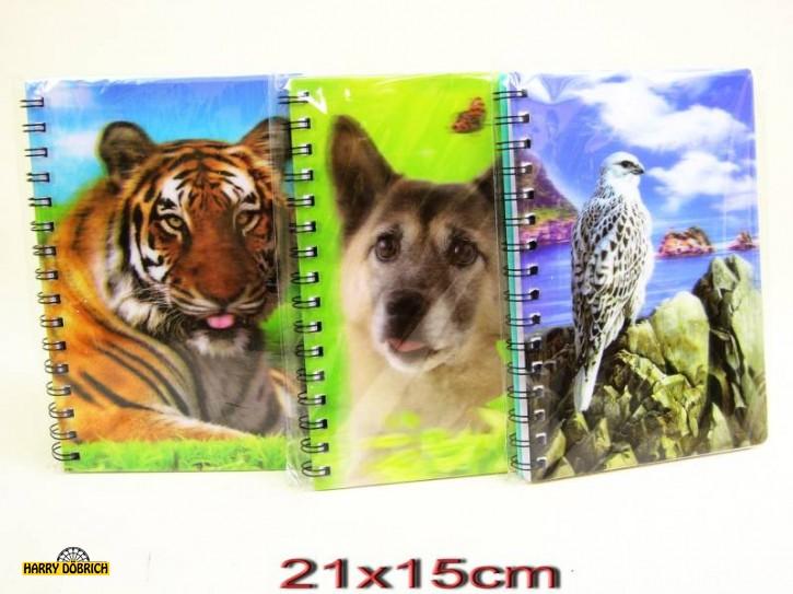 Notizbuch DIN A5 3D 8-fach sortiert