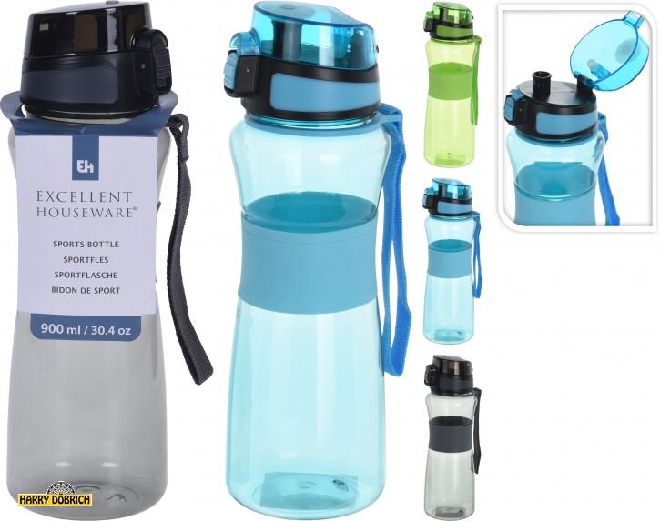 Sportflasche 900ml mit Trinkverschluss 3 Farben