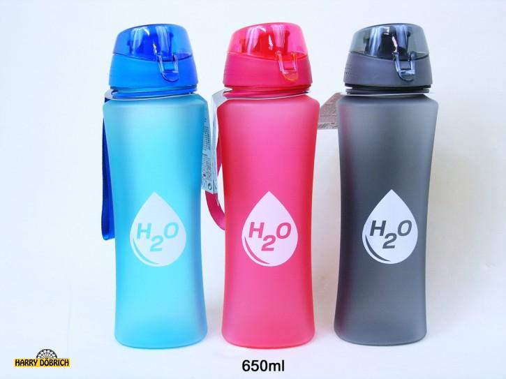 Sportflasche 650ml 3-fach sortiert