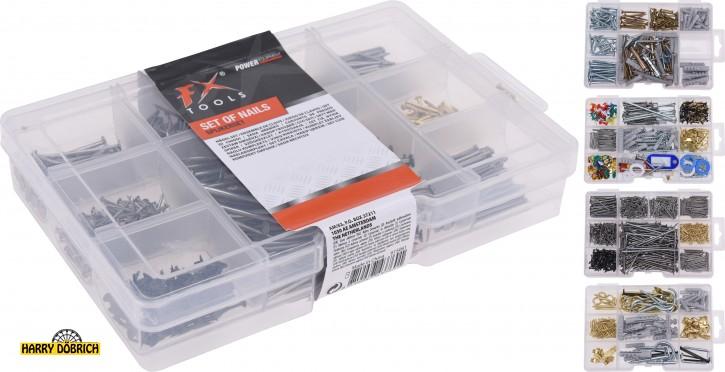 Kleinteilebox gefüllt 4-fach sortiert