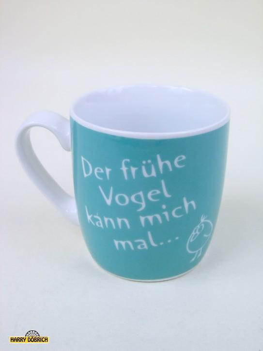 Kaffeebecher 310ml Der frühe Vogel...