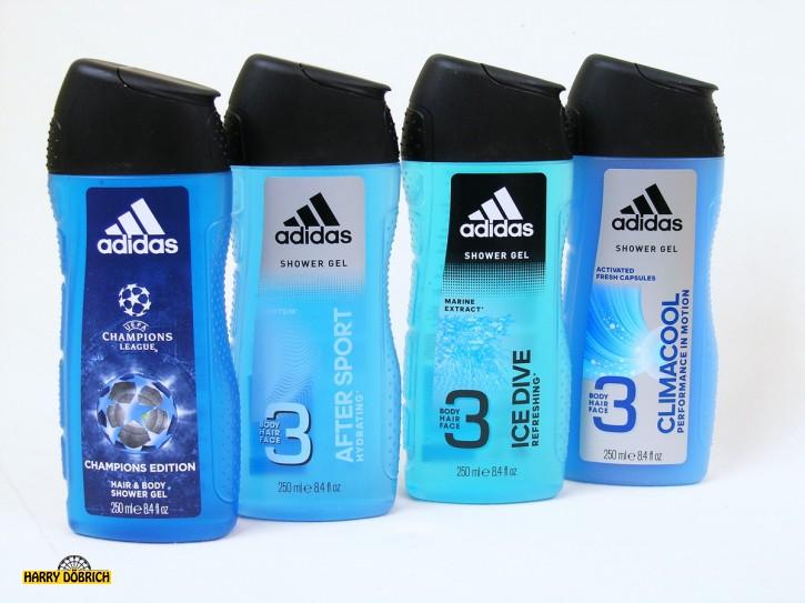 Adidas Duschgel 250ml 3in1 sortiert