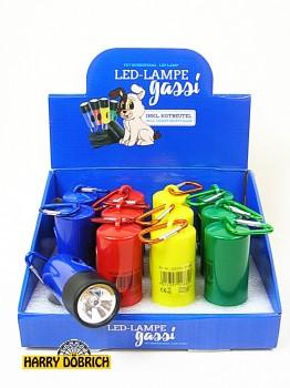 LED-Lampe Gassi mit Kotbeutel 4fach sort.