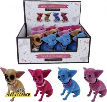 Wackelhund Chihuahua 13x9cm 4-fach sortiert