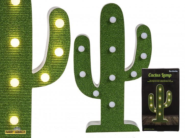 Holz-Leuchte Kaktus 38cm 10 LED