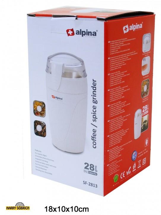 Elektr. Kaffe/Gewürzmühle Alpina weiß