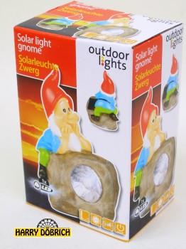 Solarleuchte LED mit Zwerg 4-fach sortiert