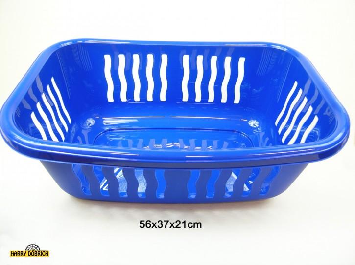 Wäschekorb 56x38x21cm blau
