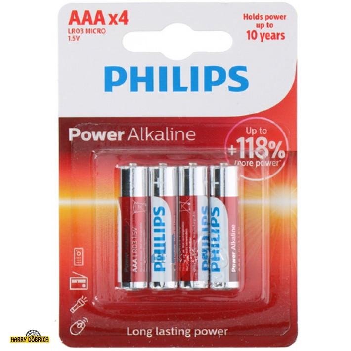 Batterie Philipps powerlife AAA 4er
