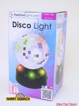 Discospiegelkugel 10cm mit 4 LED