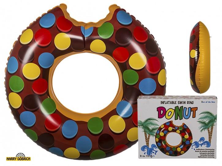 Schwimmring Donut braun 119cm GK