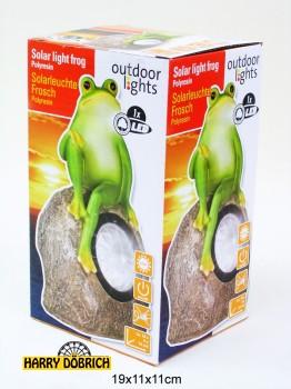 Solarlampe Frosch