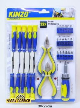 Werkzeugset Kinzo 2-fach sortiert