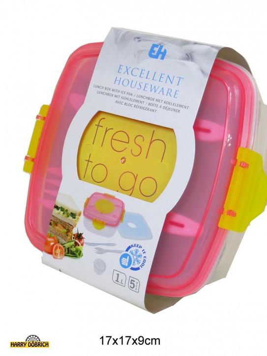 Lunchbox 17x17x9cm 2-fach sortiert