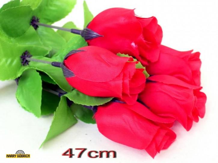Rosenknospe 47cm rot