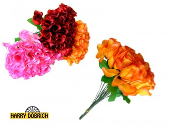 Rose 33cm 6-fach Frühling
