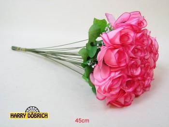 Rose 45cm mit Schleierkraut