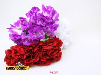Rose offen 42cm farbig sortiert