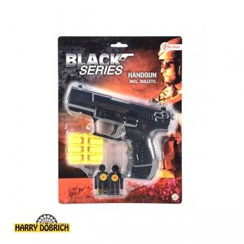 Polizeipistole m. Munition + Zielscheibe