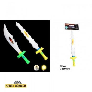 Schwert mit Licht 32cm 2-fach sortiert