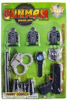 Polizeikarte Gunman 43x28.5cm