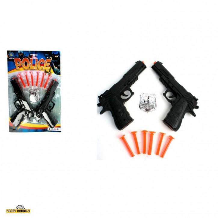 Pfeilpistole 2er Set mit Marke
