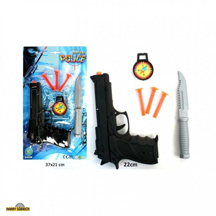 Pfeilpistole 22cm mit Messer