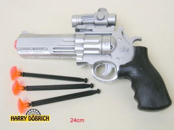 Pfeilpistole Colt 24cm mit 3 Pfeilen