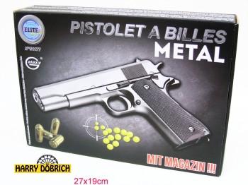 Kugelpistole 22cm Metall