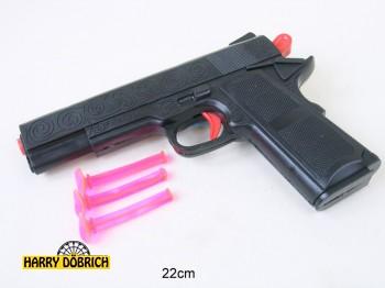 Pfeilpistole 22cm 3 Pfeile im Beutel