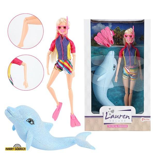 Puppe Lauren Taucher mit Delfin