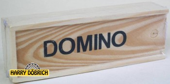 Domino 16x5cm in Holzbox