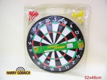Dartspiel 43cm Blister 6 Pfeile