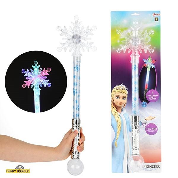 Zauberstab Schneeflocke mit Licht