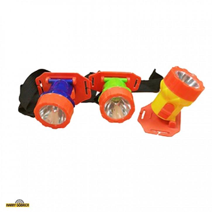 Kinder Kopflampe bunt sortiert