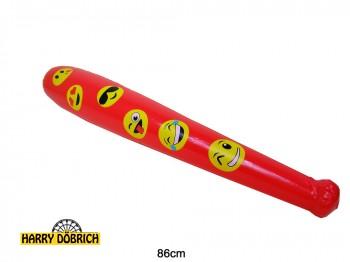 Aufblas-Keule Smile 86cm farbig sortiert