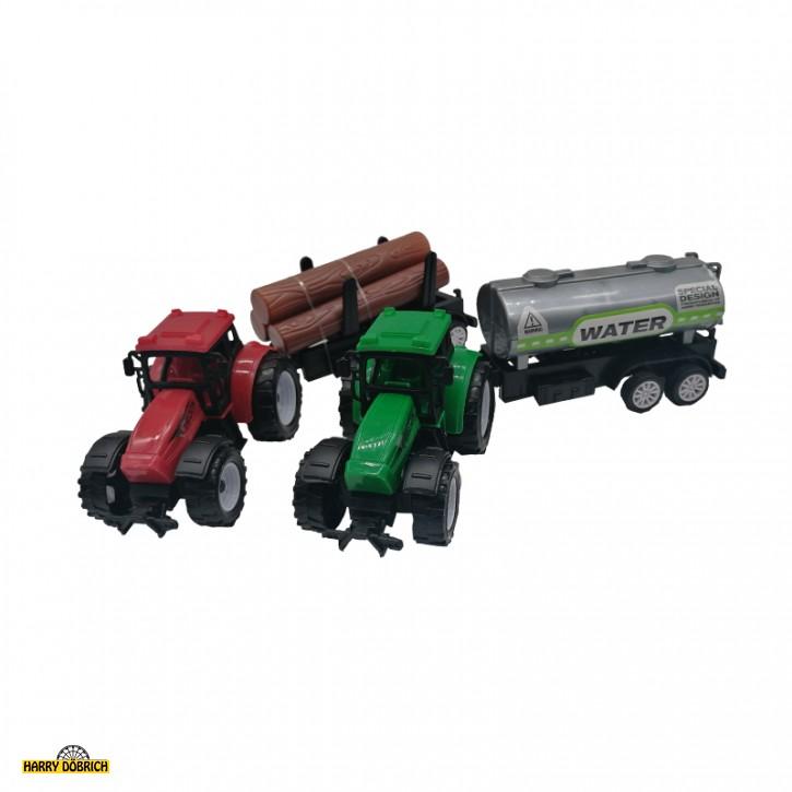 Traktor mit Hänger 2-fach sortiert
