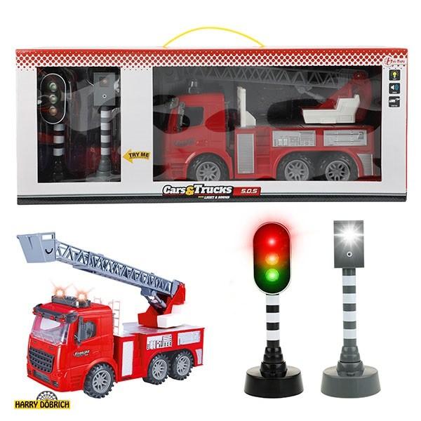 Feuerwehrauto + Ampel Licht/Sound