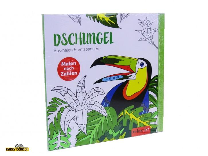 Buch Malen nach Zahlen Dschungel
