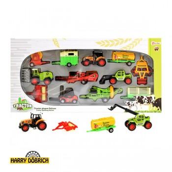 Traktorspielset Metall Deluxe